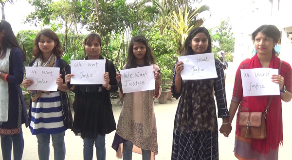 Nepalese students of BMSRTU protest sexual assault