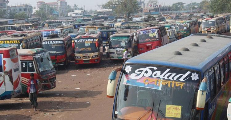 Bus strike begins in Khulna, Kushtia