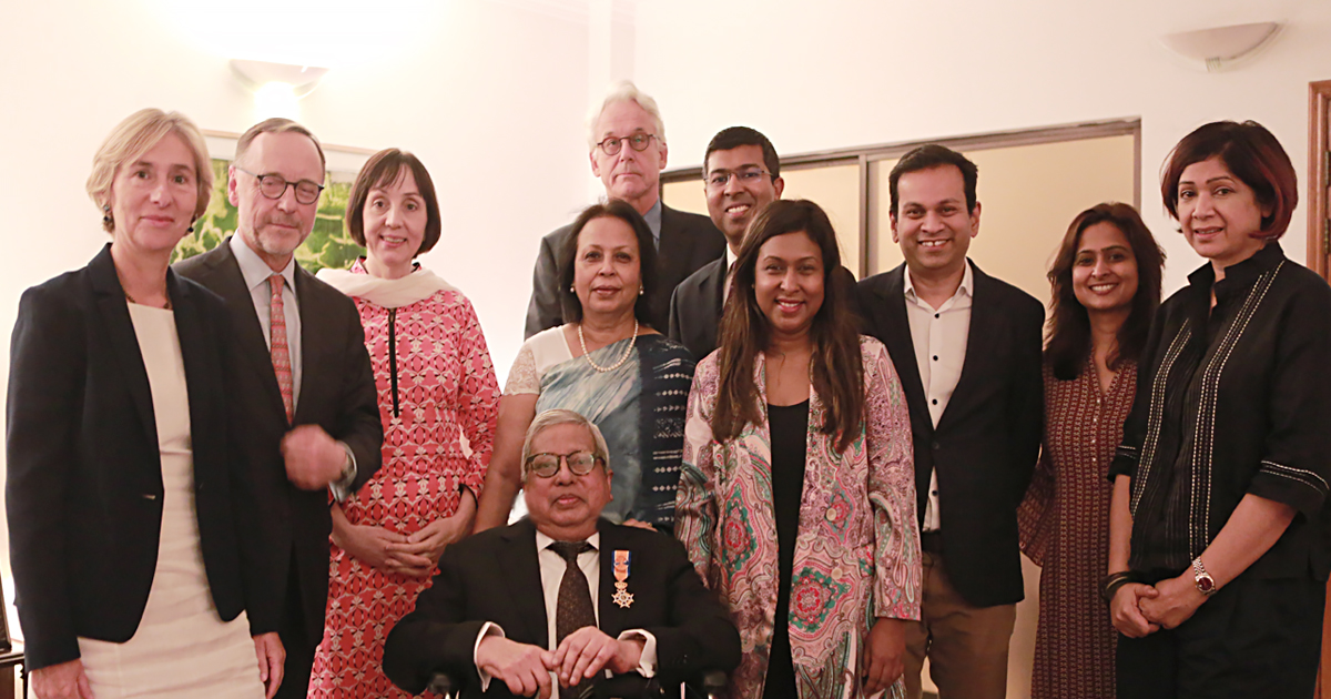 Sir Fazle Hasan Abed honoured with Dutch Knighthood