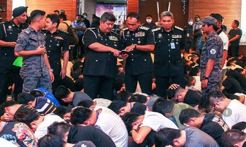680 detained in Malaysia for online scam
