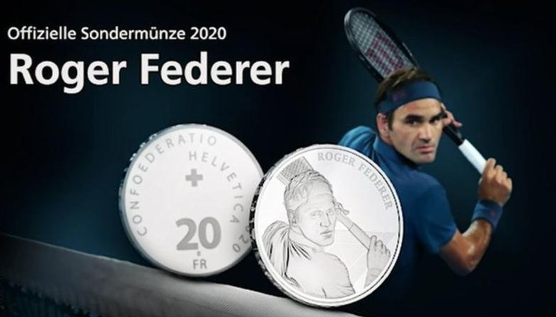 Federer to become 1st living person to be celebrated on Swiss coins