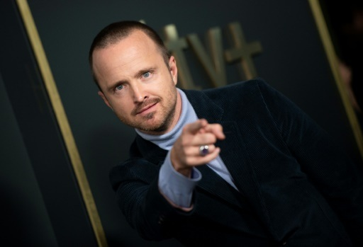 "Aaron Paul, who plays convicted murderer Warren Cave, says his swastika-tattooed character forces viewers to recognize that ""not everything is as black and white as it may seem"" --AFP/File"