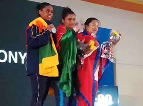 Bangladesh's Mabia wins 5th gold