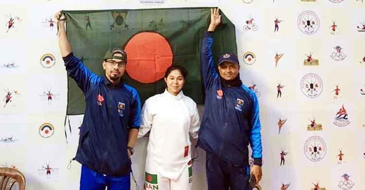 Fatema Mujib secures gold in Fencing