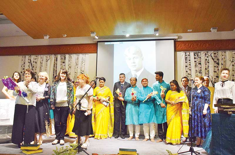 Artistes perform at the event