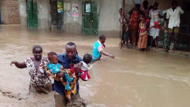 Red Cross volunteers are assisting with relief and recovery efforts in Uganda --Uganda Red Cross