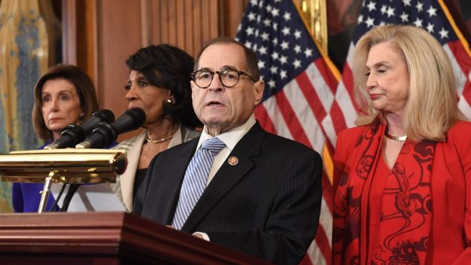 Jerry Nadler announces the articles of impeachment