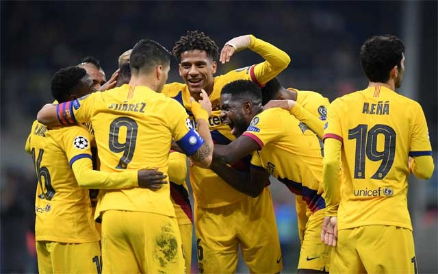 Barca knock Inter out
