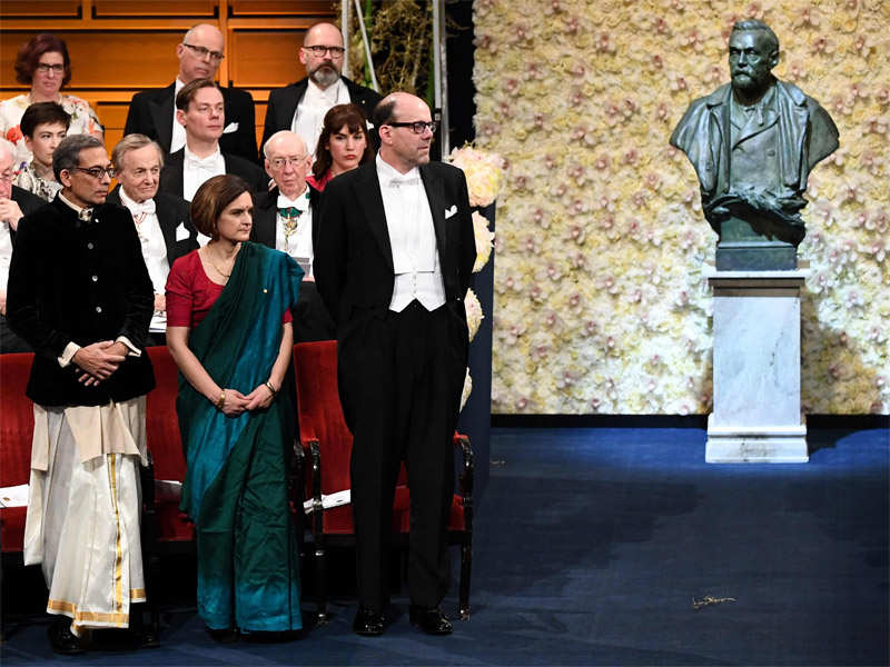 Abhijit Banerjee receives Nobel wearing dhoti-punjabi