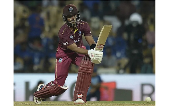 IND Shai Hope and Shimron Hetmyer added 218 runs for 2nd wicke --AFP