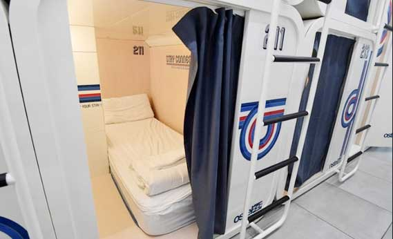 Capsule hotel concept a hit in Milan