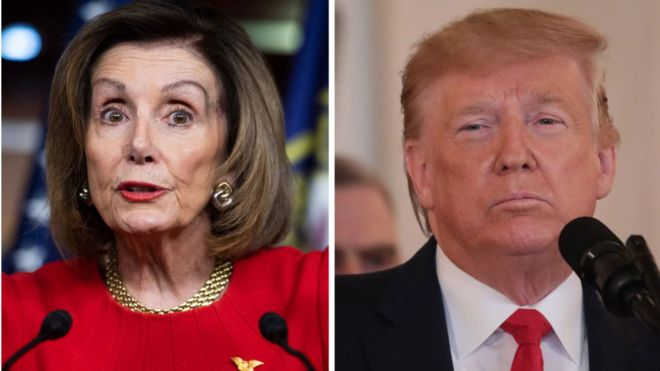 Top Democrat Nancy Pelosi says lawmakers were not satisfied by the president's briefing on the Iran air strike: Getty images