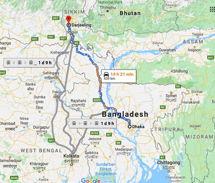 BD to launch direct road links with Darjeeling