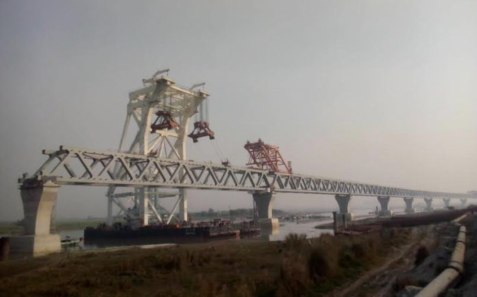 Over 3 km of Padma Bridge visible now