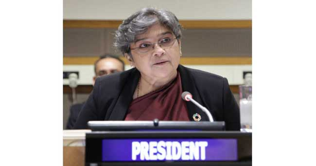 Ambassador Fatima elected President of UNICEF Executive Board