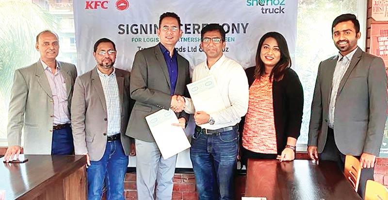 Shohoz Truck ,Transcom Foods sign a deal