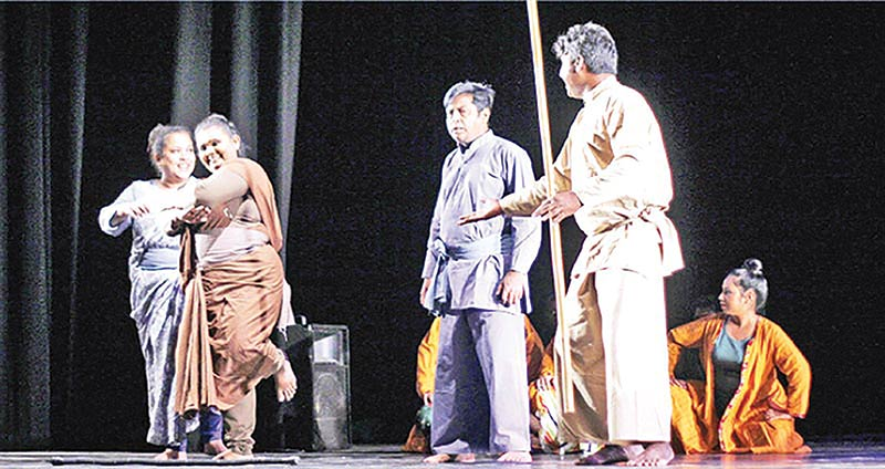 A scene from the play Dhaboman