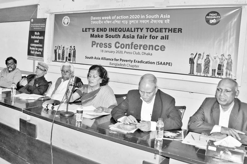 Press conference titled 'Lets End Inequality Together Make South Asia Fair for All'