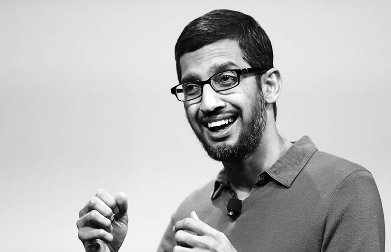 Newly appointed Alphabet CEO Sundar Pichai.