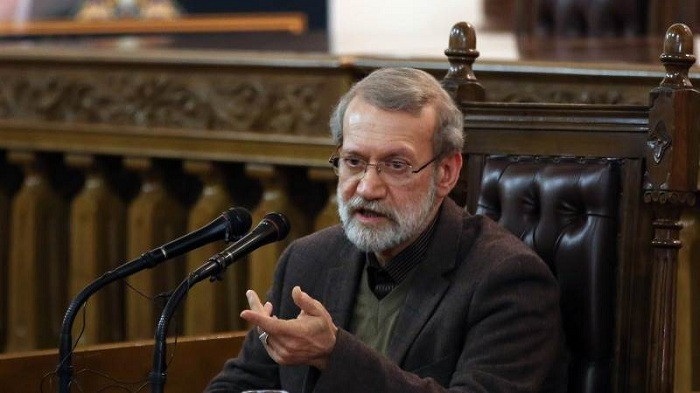 """Speaker of the Iranian Parliament Ali Larijani (pictured) warned on Sunday Tehran may """"seriously reconsider"""" its collaboration with the International Atomic Energy Agency (IAEA) if the European Union takes an """"unfair"""" approach to the Iranian nuclear deal dispute mechanism. --EPA-EFE/ABEDIN TAHERKENAREH"""