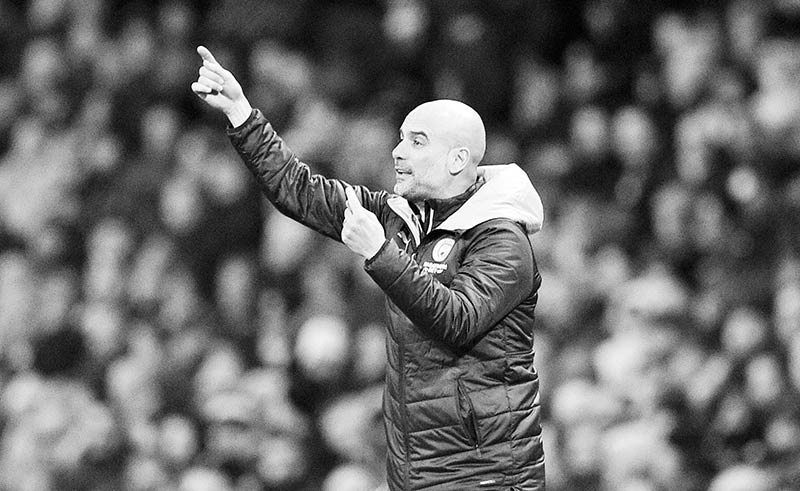 Manchester City's Spanish manager Pep Guardiola gestures during the English Premier League football match between Manchester City and Crystal Palace at the Etihad Stadium in Manchester, north west England, on January 18, 2020.photo: AFP