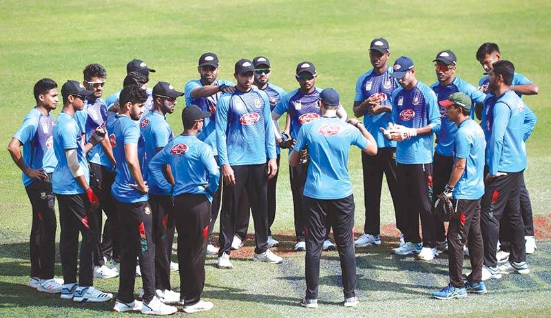 A practice session of Bangladesh National Cricket Team at the Sher-e-Bangla National Cricket Stadium.photo: BCB