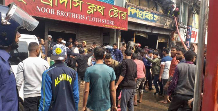 5 of a family burnt alive in Moulvibazar fire
