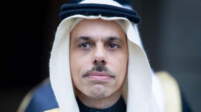 Saudi Arabia Foreign Minister Prince Faisal bin Farhan.Photo; AFP