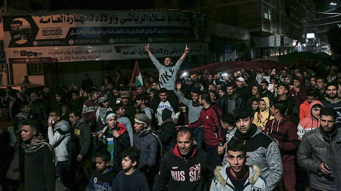 Houndreds continued to demonstrate in the Gaza Strip [Walid Mahmoud/Al Jazeera]