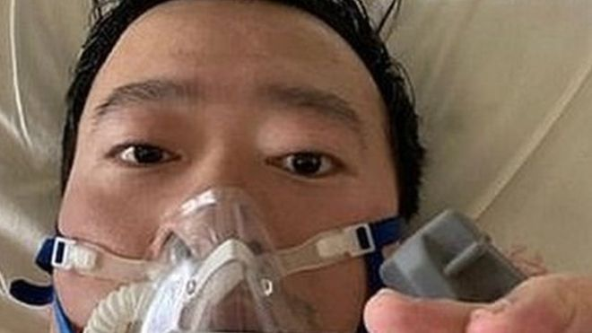 Dr Li posted a picture of himself on social media from his hospital bed