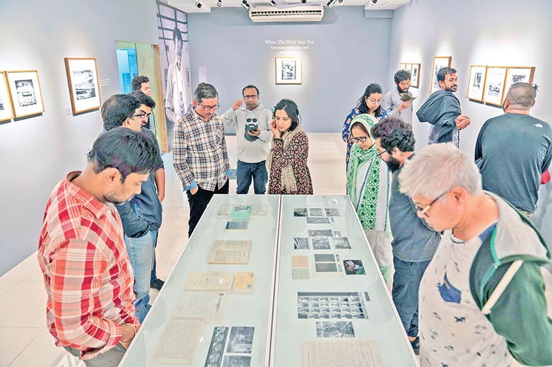 Visitors at the exhibitionphoto: Drik