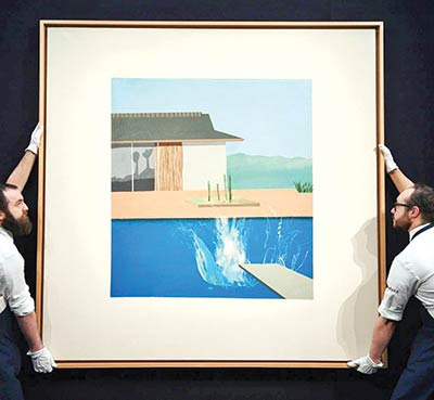 David Hockney's The Splash fetches £23.1m at auction