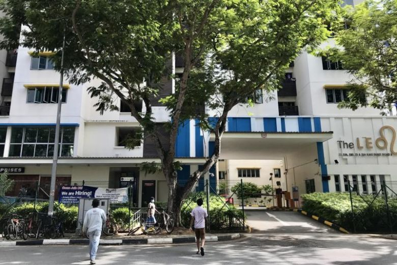 The first Bangladeshi worker, 39, who stayed at The Leo Dormitory in Kaki Bukit (above), tested positive for the virus on Feb 8, 2020. PHOTO: LIANHE ZAOBAO