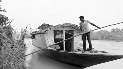 Floating classrooms bring education to flooded communities in Bangladesh