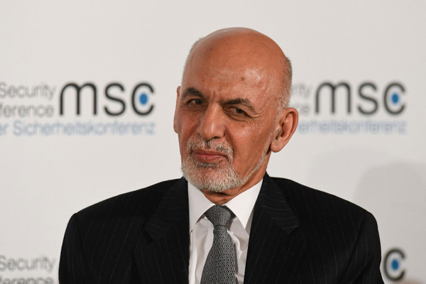 President of Afghanistan Ashraf Ghani takes part in a panel discussion during the 56th Munich Security Conference (MSC) in Munich, southern Germany, on February 15, 2020. Photo: AFP