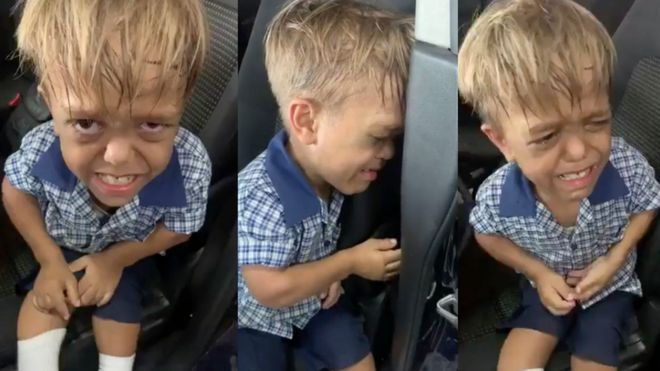 The video of Quaden crying has been viewed millions of times online. Photo: BBC