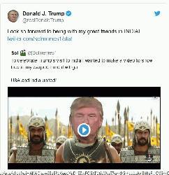 Trump tweets video depicting him as 'Bahubali'