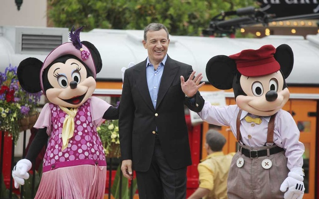 "Bob Iger, chairman and chief executive of the Walt Disney Company, at the opening ceremony of the ""Cars Land"" at Disney California Adventure in Anaheim, Calif., June 15, 2012. Photo: The New York Times"