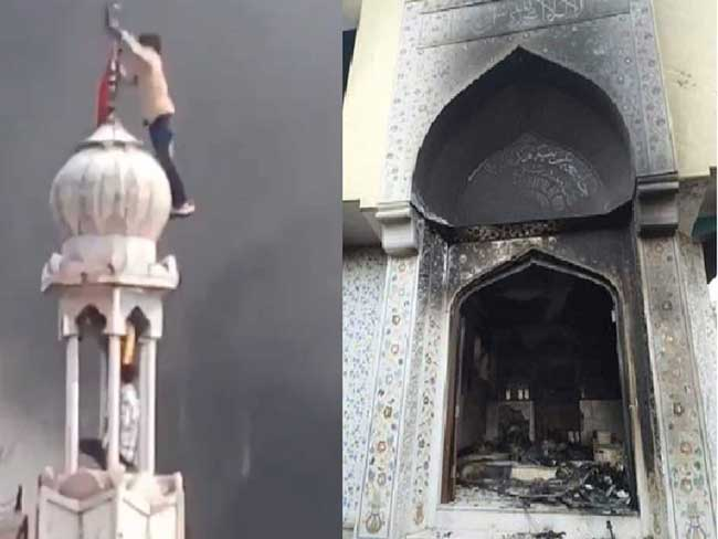 Toll hits to 19; Mosque set on fire