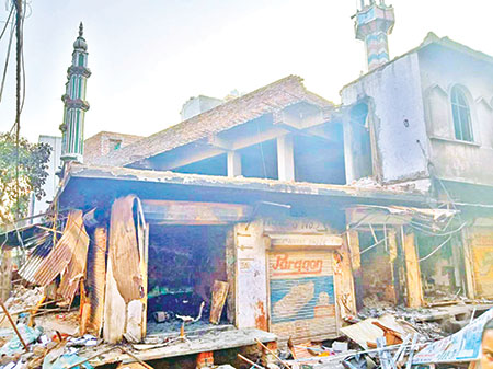 'Targeted for being Muslim': Inside the mosque burnt by rioters in worst Delhi violence for decades