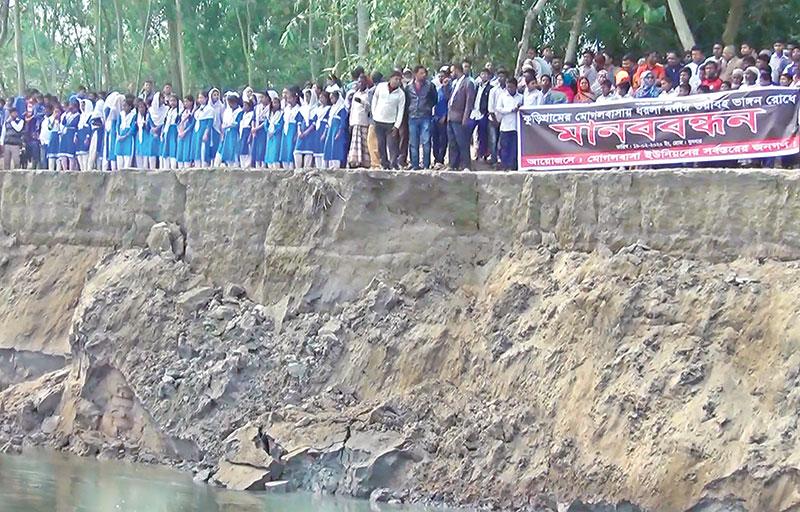 Dharla River erosion takes serious turn in Kurigram