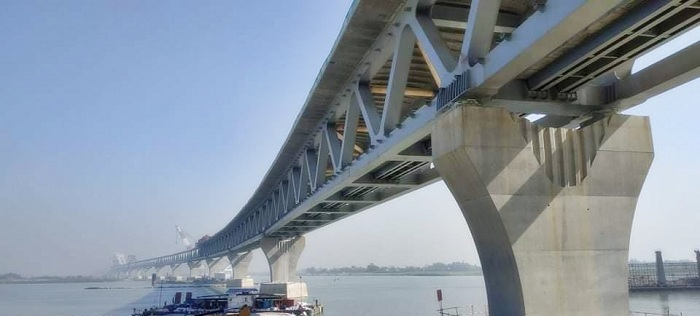4 km of Padma Bridge now visible after installation of 27th span