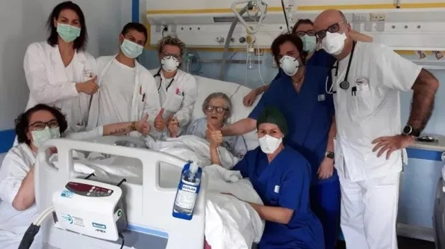 Alma Clara Corsini became the first person to recover from coronavirus in Modena, Italy   (Collected Photo)