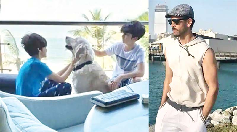 Hrithik Roshan watches sons play amid coronavirus lockdown