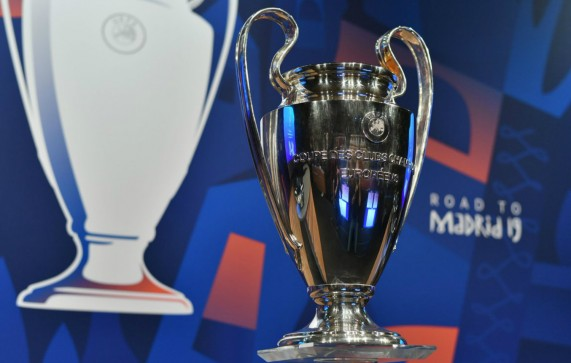 The Champions League trophy at the UEFA headquarters in Switzerland. Photo: Champions League's official twitter account