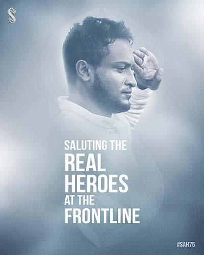 Shakib's salute to people fighting against coronavirus