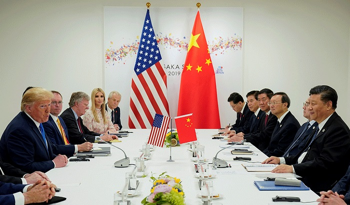 US President Donald Trump meets with China's President Xi Jinping at the start of their bilateral meeting at the G20 leaders summit in Osaka, Japan, June 29, 2019. File photo: Reuters