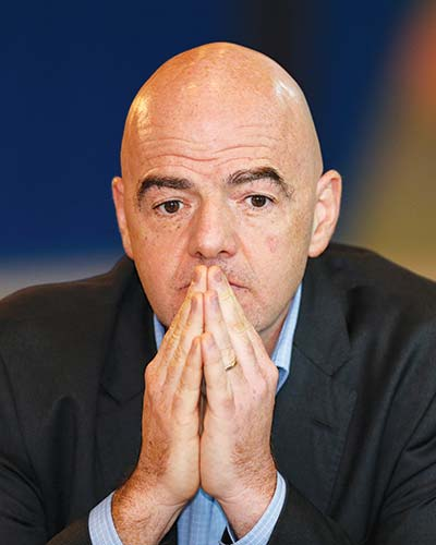 Infantino says 'nobody knows' when football can resume