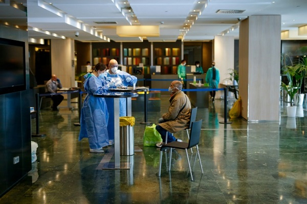 Spain is taking recovering virus patients out of hospitals and putting them in quarantine in hotels. Photo: AFP