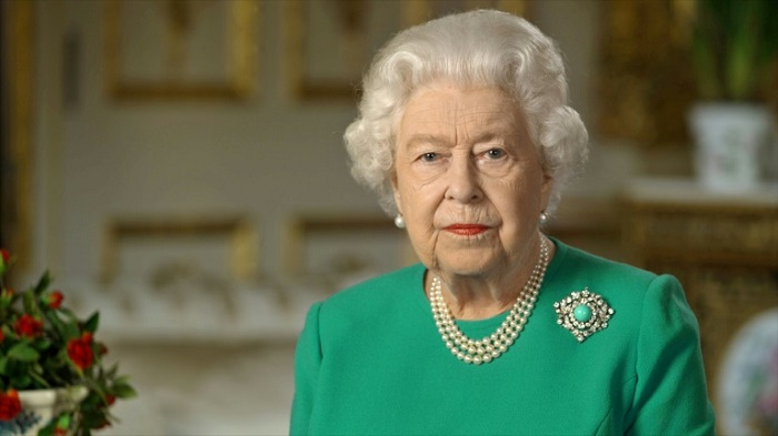 The queen praised healthcare and other key staff working during the crisis  --BUCKINGHAM PALACE/AFP /